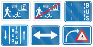 Collection de panneaux routiers utilisés en Belgique illustration libre de droits