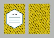 Collection de papeterie le crayon lecteur de bloc-notes usine l'écriture Modèle de stylos et de crayons Style d'ensemble Le crayo Images libres de droits