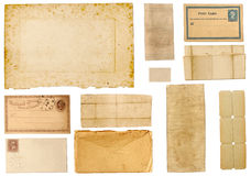 Collection de papier antique Photographie stock libre de droits