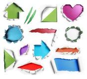 Collection de papier déchiré blanc Image stock