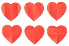 Collection de papier de coeur Image libre de droits