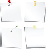 Collection de papier de note Photo stock