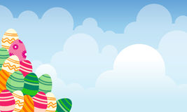 Collection de paysage de thème de Pâques Photos stock