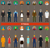 Collection de personnes et d'avatars de profession Vecteur illustration stock