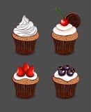 Collection de petits gâteaux de bande dessinée Photo stock