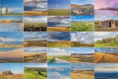 Collection de photo de prairie du Colorado Images libres de droits