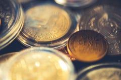 Collection de pièces de monnaie américaine âgée Photographie stock