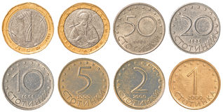 Collection de pièces de monnaie de Lev de Bulgare Photo stock