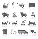 Collection de pictogrammes de construction Photo stock