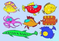 Collection de poissons Images stock