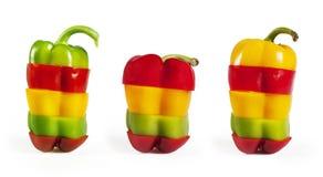 Collection de poivrons colorés Photos libres de droits