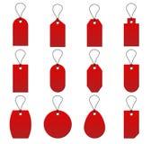 Collection de prix à payer rouge sur le fond blanc Image stock