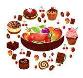 collection de produit alimentaire Image stock