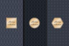 Collection de produit de luxe de milieux Image libre de droits