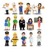 Collection de professions Image libre de droits