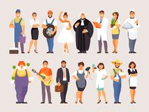 Collection de professions, partie illustration libre de droits