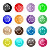 Collection de puissance 16 ou d'icônes arrêtées Photos stock