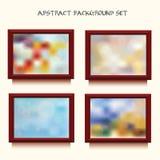 Collection de quatre backgruonds blured abstraits dans les cadres Photo libre de droits