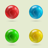 Collection de quatre boules illustration stock