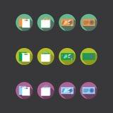 Collection de quatre icônes colorées différentes Images libres de droits