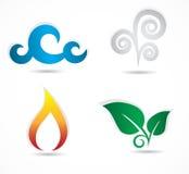 Collection de quatre icônes d'éléments Photographie stock libre de droits