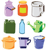 Collection de récipients de magasin de ménage Image libre de droits