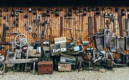 Collection de rétros outils et accessoires âgés Photo libre de droits