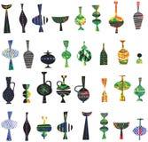 Collection de rétros vecteurs de vases illustration stock