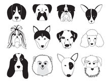 Collection de race de chiens illustration de vecteur