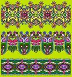 Collection de rayures florales ornementales sans couture Photos libres de droits