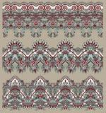 Collection de rayures florales ornementales sans couture Photo libre de droits