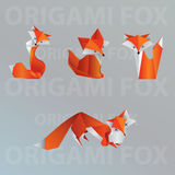 Collection de renard d'origami Illustration de Vecteur