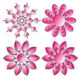 Collection de rose et blanche d'ornement illustration de vecteur