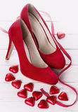 Collection de Saint Valentin en rouge Photographie stock libre de droits