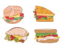 Collection de sandwichs illustration stock