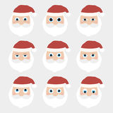 Collection de Santa Claus de Noël Photo stock