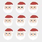 Collection de Santa Claus de Noël Photo stock