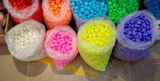 Collection de savon coloré en forme de coeur Photographie stock