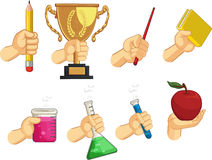 Collection de signe de main - gestes d'école Image libre de droits