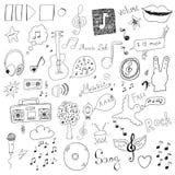 Collection de signes de musique Images libres de droits