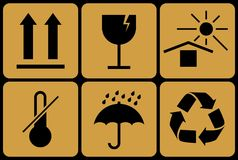 Collection de signes prohibitifs d'emballage Photo stock