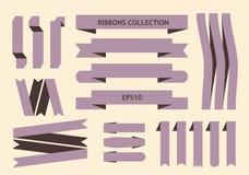 Collection de signes de ruban Image libre de droits