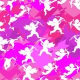 Collection de silhouettes blanches d'anges, modèle sans couture sur Vale illustration libre de droits