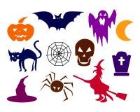 Collection de silhouettes de Halloween - plus disponibles Photo libre de droits