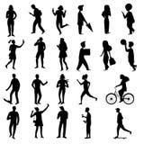 Collection de silhouettes de personnes, illustration de vecteur illustration stock