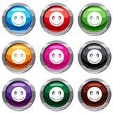 Collection de sourire de l'emotset 9 Photos libres de droits