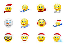 Collection de sourire de Noël et de nouvelle année Photographie stock