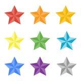 Collection de stas multicolores Photo libre de droits