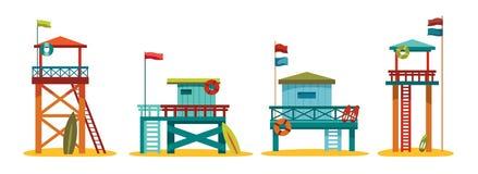 Collection de station de maître nageur