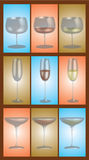 Collection de Stemware Photographie stock
